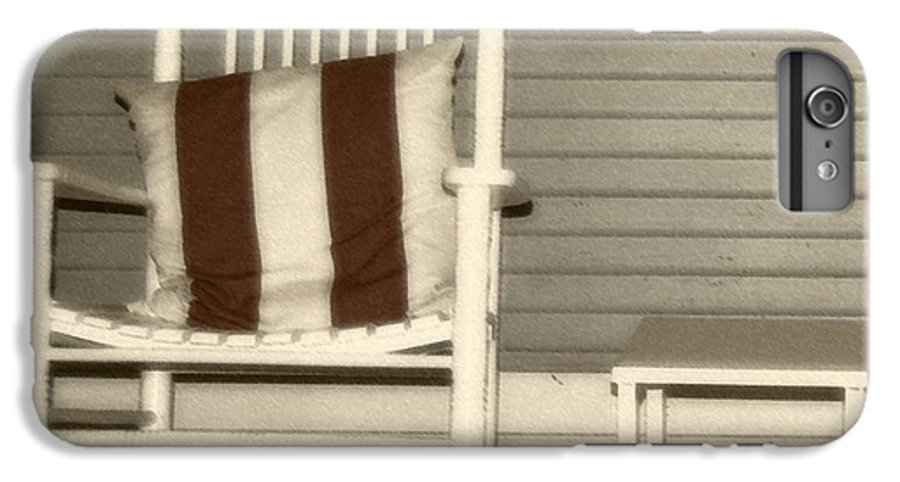 Rocking Chair IPhone 6 Plus Case featuring the photograph Porch Rocker by Debbi Granruth