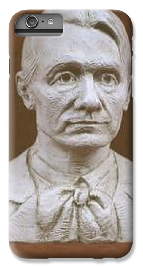 Rudolf Steiner IPhone 6 Plus Case featuring the sculpture Portrait Bust Of Rudolf Steiner by David Dozier