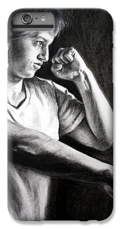 Portrait IPhone 6 Plus Case featuring the drawing Portrait by Maryn Crawford