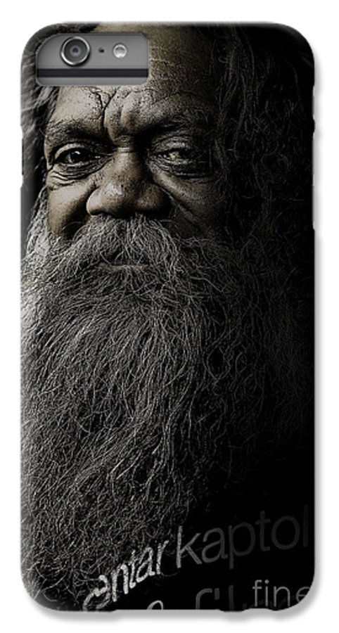 Aboriginal IPhone 6 Plus Case featuring the photograph Portrait Of Cedric by Sheila Smart Fine Art Photography