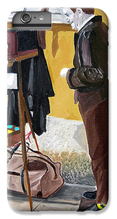 Mime IPhone 6 Plus Case featuring the painting Portrait Of Identity by Michael Lee