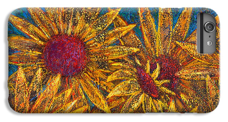 Flowers IPhone 6 Plus Case featuring the painting Positivity by Oscar Ortiz