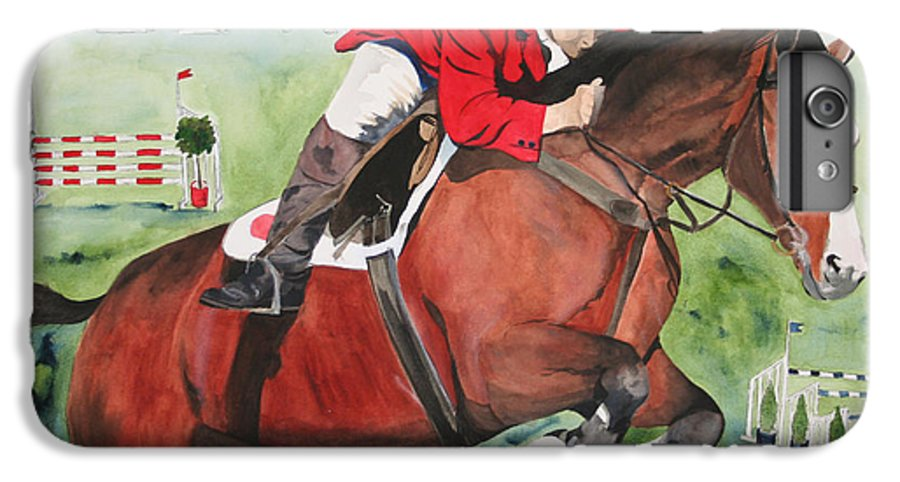 Horse IPhone 6 Plus Case featuring the painting Practice Makes Perfect by Jean Blackmer