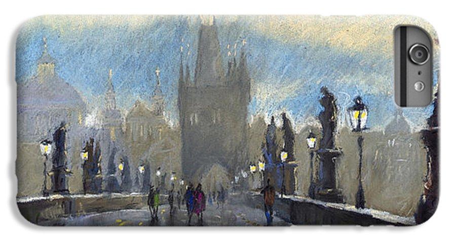Pastel IPhone 6 Plus Case featuring the pastel Prague Charles Bridge 06 by Yuriy Shevchuk