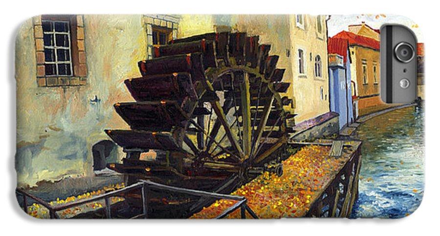 Prague IPhone 6 Plus Case featuring the painting Prague Chertovka by Yuriy Shevchuk