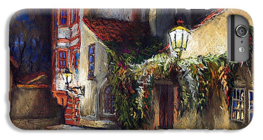 Prague IPhone 6 Plus Case featuring the painting Prague Novy Svet Kapucinska Str by Yuriy Shevchuk