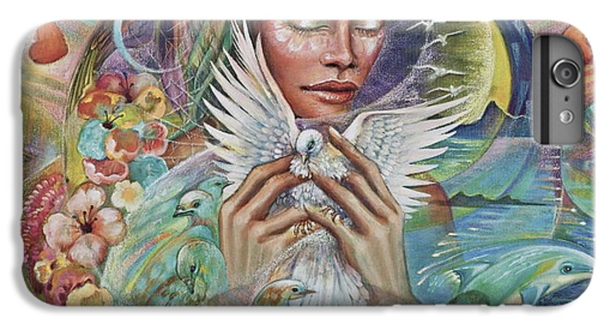Dove IPhone 6 Plus Case featuring the painting Prayer For Peace by Blaze Warrender