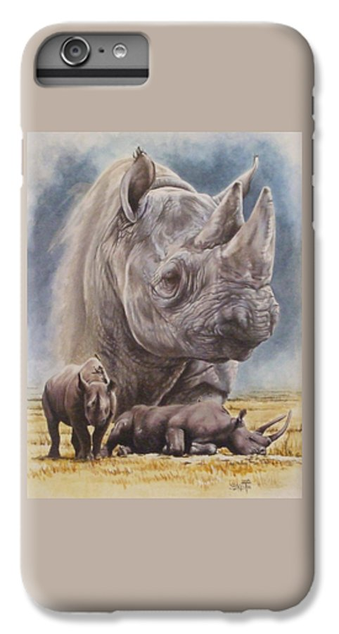 Wildlife IPhone 6 Plus Case featuring the mixed media Precarious by Barbara Keith