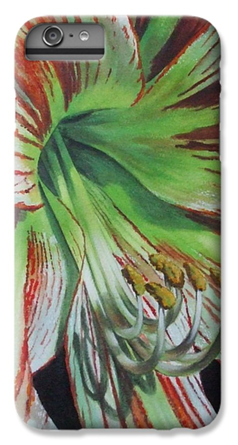 Amaryllis IPhone 6 Plus Case featuring the painting Precious by Barbara Keith