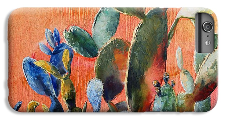 Cactus IPhone 6 Plus Case featuring the painting Prickly Pear by Lynee Sapere