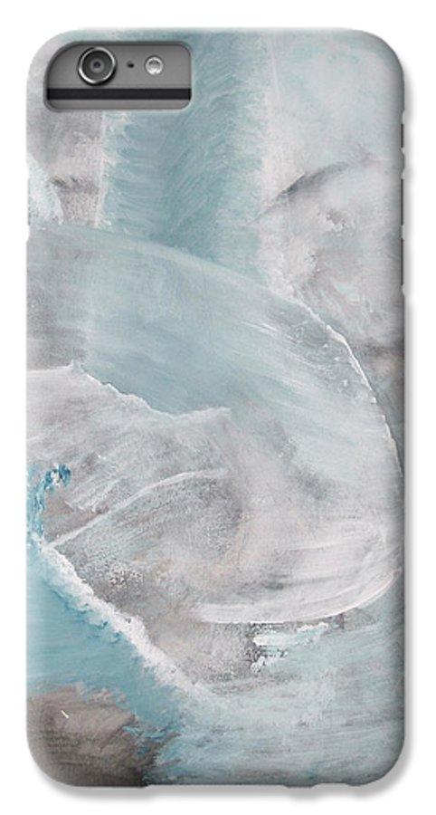 Abstract Acrylic Darkestartist Landscape Painting Waterfall Blue Water IPhone 6 Plus Case featuring the painting Private Waterfall by Darkest Artist