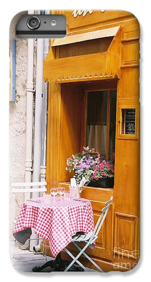Cafe IPhone 6 Plus Case featuring the photograph Provence Cafe by Nadine Rippelmeyer