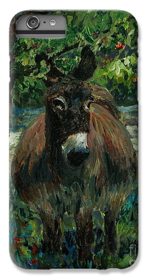 Donkey IPhone 6 Plus Case featuring the painting Provence Donkey by Nadine Rippelmeyer