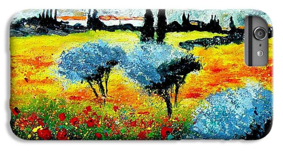 Poppies IPhone 6 Plus Case featuring the painting Provence by Pol Ledent