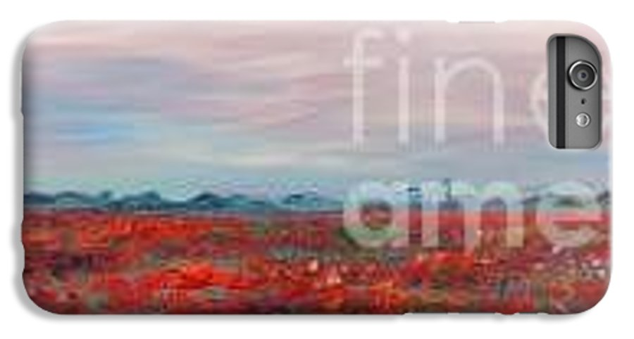 Poppies IPhone 6 Plus Case featuring the painting Provence Poppies by Nadine Rippelmeyer