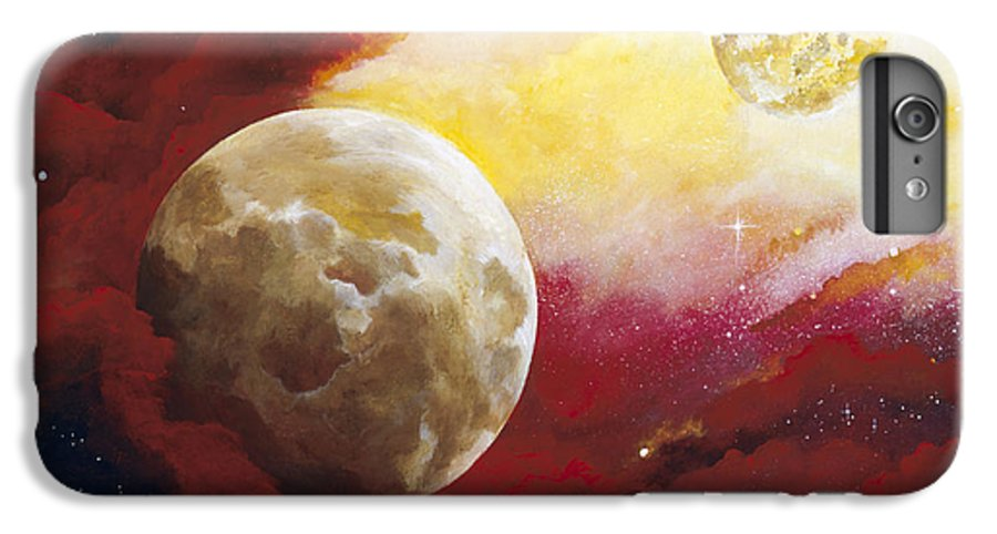 Space IPhone 6 Plus Case featuring the painting Psalm by Laura Swink