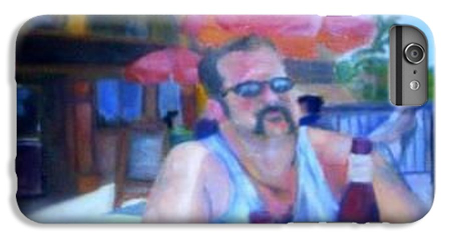Daytona IPhone 6 Plus Case featuring the painting Pub by Sheila Mashaw