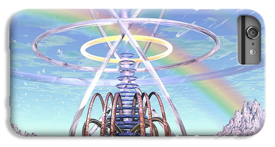3d IPhone 6 Plus Case featuring the digital art Pulsar Beacon by Dave Martsolf