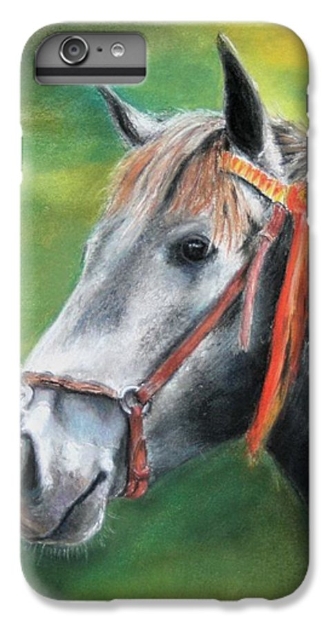 Horse IPhone 6 Plus Case featuring the painting Pure Spanish by Ceci Watson