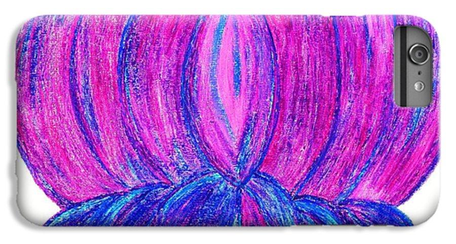 Purple Lotus IPhone 6 Plus Case featuring the pastel Purple Lotus by Chandelle Hazen