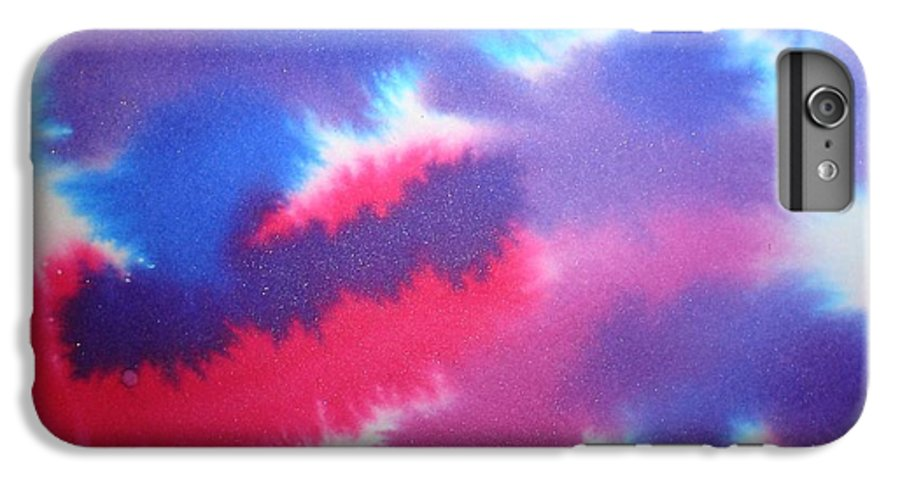 Abstract IPhone 6 Plus Case featuring the painting Purple Wisp by Chandelle Hazen