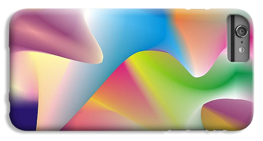 Abstract IPhone 6 Plus Case featuring the digital art Quantum Landscape 2 by Walter Oliver Neal