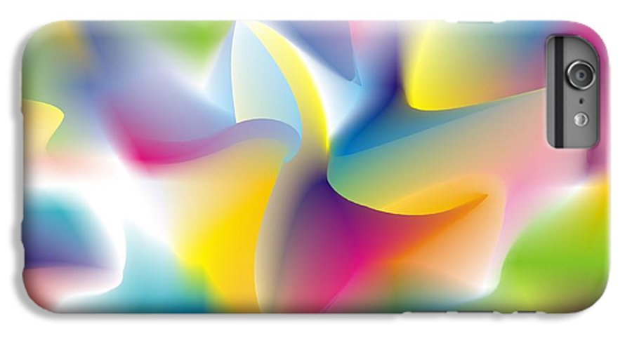 Abstract IPhone 6 Plus Case featuring the digital art Quantum Landscape 4 by Walter Oliver Neal