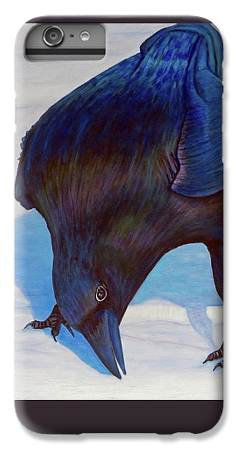 Raven IPhone 6 Plus Case featuring the painting Que Pasa by Brian Commerford