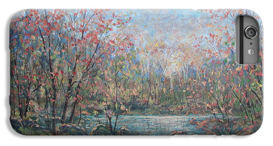 Landscape IPhone 6 Plus Case featuring the painting Quiet Evening. by Leonard Holland