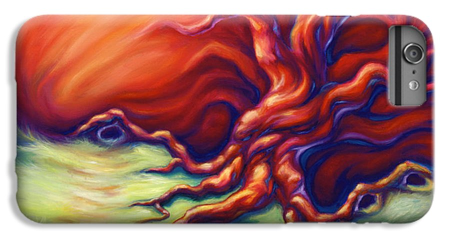 Oil Painting IPhone 6 Plus Case featuring the painting Quiet Place by Jennifer McDuffie
