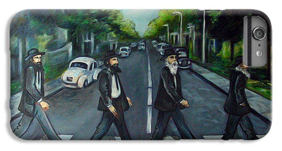 Surreal IPhone 6 Plus Case featuring the painting Rabbi Road by Valerie Vescovi