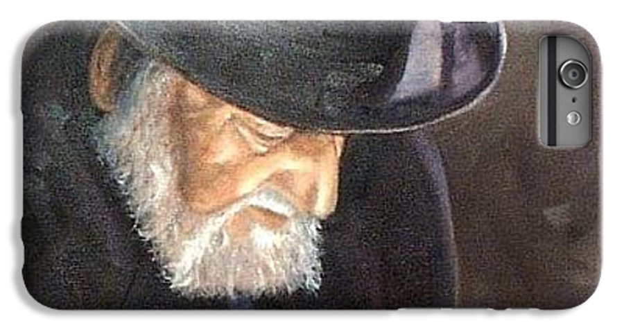 Portrait IPhone 6 Plus Case featuring the painting Rabbi by Toni Berry