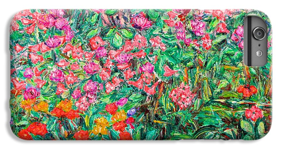 Kendall Kessler IPhone 6 Plus Case featuring the painting Radford Flower Garden by Kendall Kessler