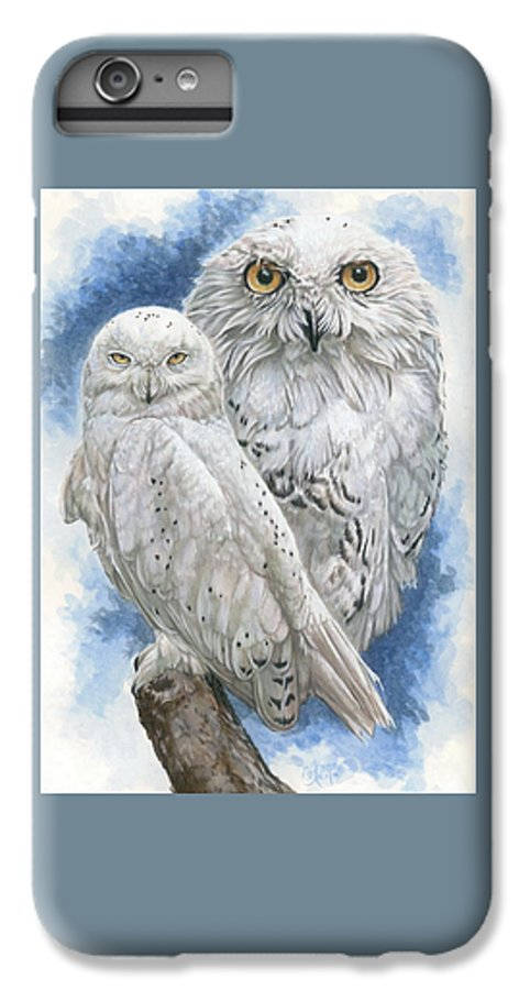 Snowy Owl IPhone 6 Plus Case featuring the mixed media Radiant by Barbara Keith