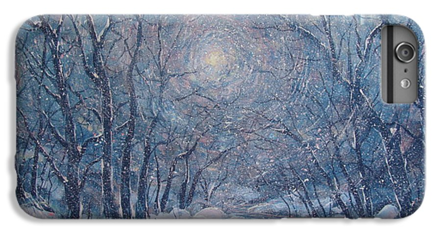Snow Landscape IPhone 6 Plus Case featuring the painting Radiant Snow Scene by Leonard Holland
