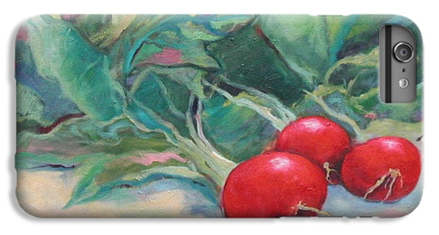 Radishes IPhone 6 Plus Case featuring the painting Radishes by Ginger Concepcion