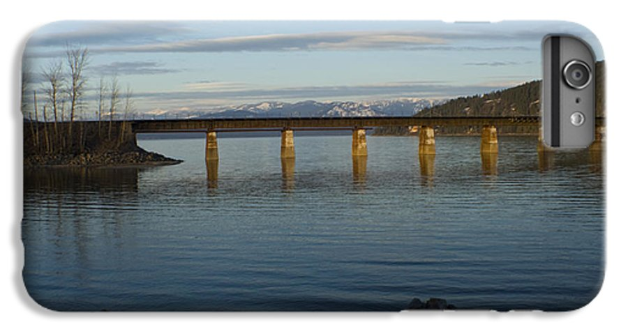 Bridge IPhone 6 Plus Case featuring the photograph Railroad Bridge Over The Pend Oreille by Idaho Scenic Images Linda Lantzy
