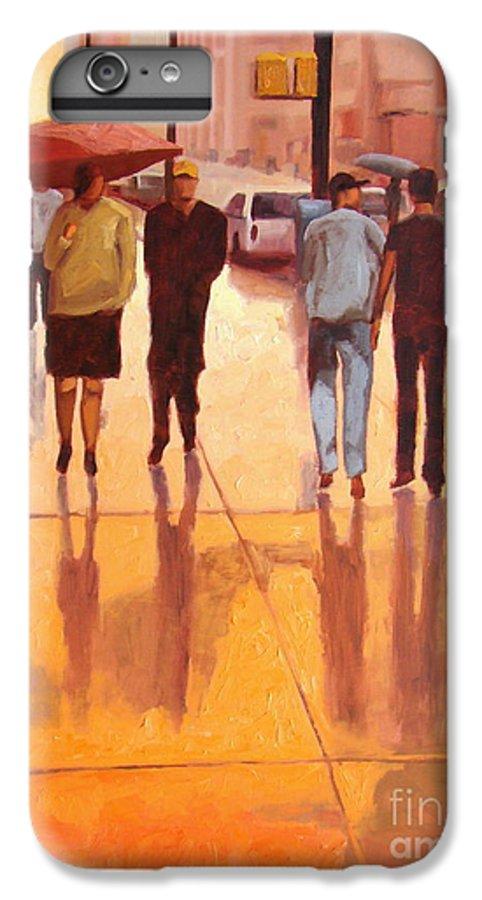 Manhattan IPhone 6 Plus Case featuring the painting Rain In Manhattan Number Eighteen by Tate Hamilton