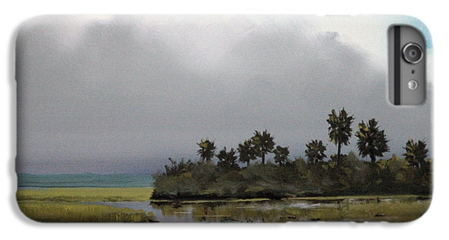 Landscape IPhone 6 Plus Case featuring the painting Rain On The Way by Glenn Secrest