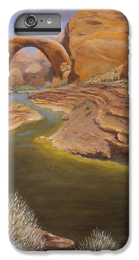 Rainbow Bridge IPhone 6 Plus Case featuring the painting Rainbow Bridge by Jerry McElroy