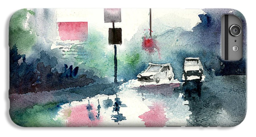 Nature IPhone 6 Plus Case featuring the painting Rainy Day by Anil Nene