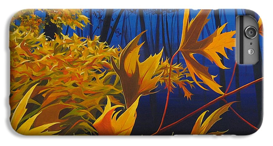 Autumn Leaves IPhone 6 Plus Case featuring the painting Raucous October by Hunter Jay
