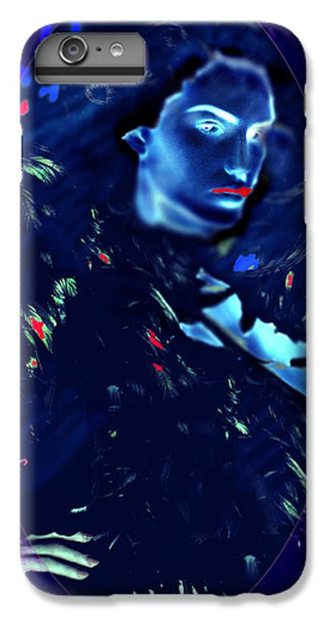 A Bizarre Evil Witch Flies With The Ravens IPhone 6 Plus Case featuring the digital art Raven Woman by Seth Weaver