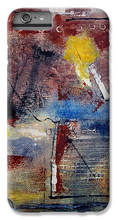 Abstract IPhone 6 Plus Case featuring the painting Raw Emotions II by Ruth Palmer
