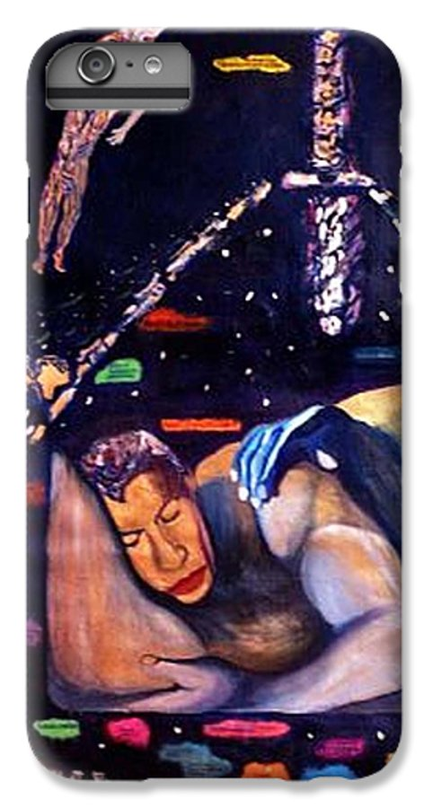Nudes IPhone 6 Plus Case featuring the painting Realities Which Will Be Artifacts by Stephen Mead