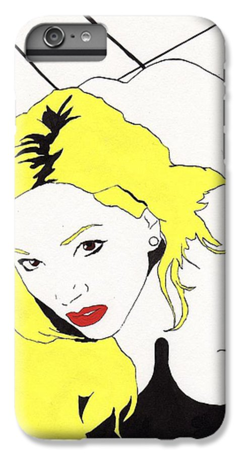 Nude Portrait Female IPhone 6 Plus Case featuring the drawing Rear Window by Stephen Panoushek