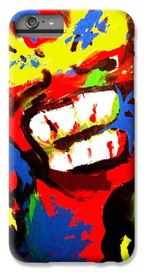Teenager IPhone 6 Plus Case featuring the painting Rebel Rebel by Alan Hogan
