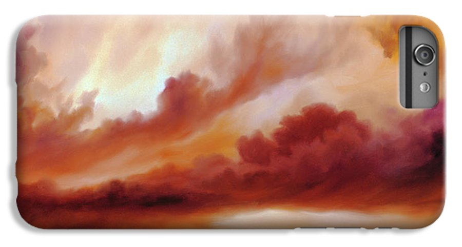 Skyscape IPhone 6 Plus Case featuring the painting Receding Storm Sketch IIi by James Christopher Hill