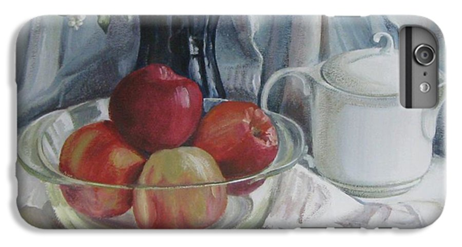 Still Life IPhone 6 Plus Case featuring the painting Red Apples by Elena Oleniuc