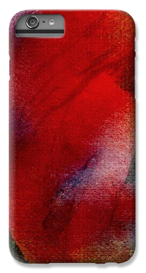 Nude IPhone 6 Plus Case featuring the painting Red Boudoir by Susan Kubes